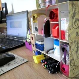 diy kleines schreibtischaufbewahrungsregal sternenwind. Black Bedroom Furniture Sets. Home Design Ideas
