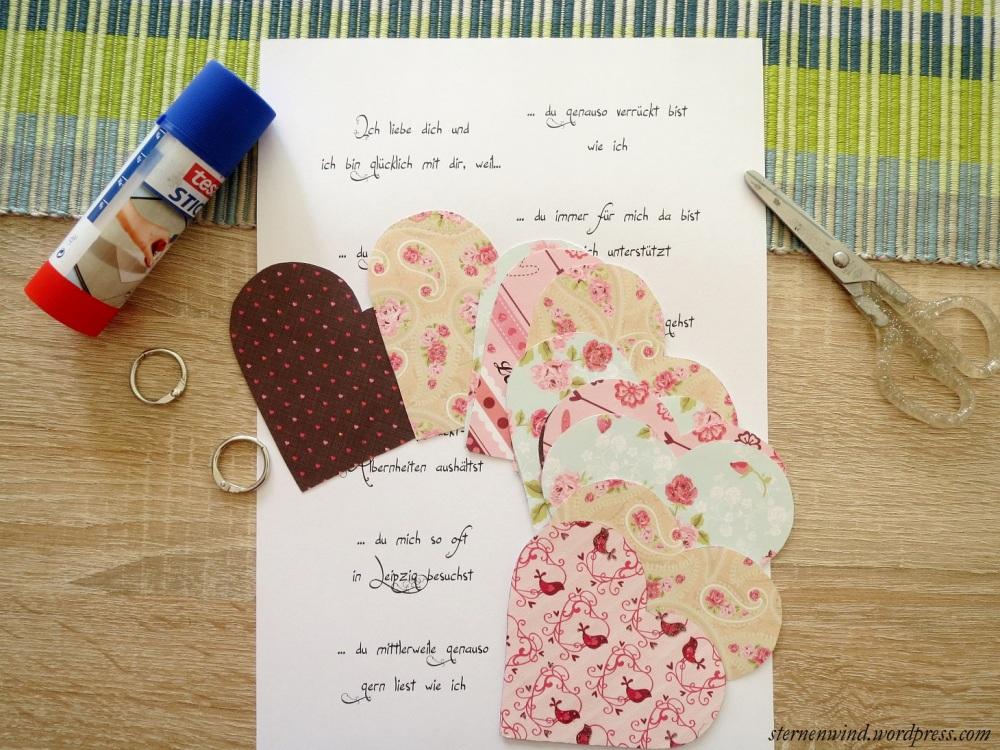 """DIY: """"Ich hab dich lieb, weil""""-Miniherzbuch (4/6)"""