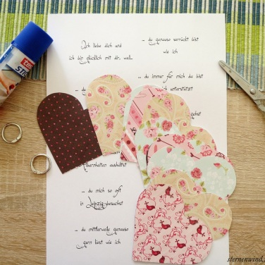 Mini-Herzbuch Materialien