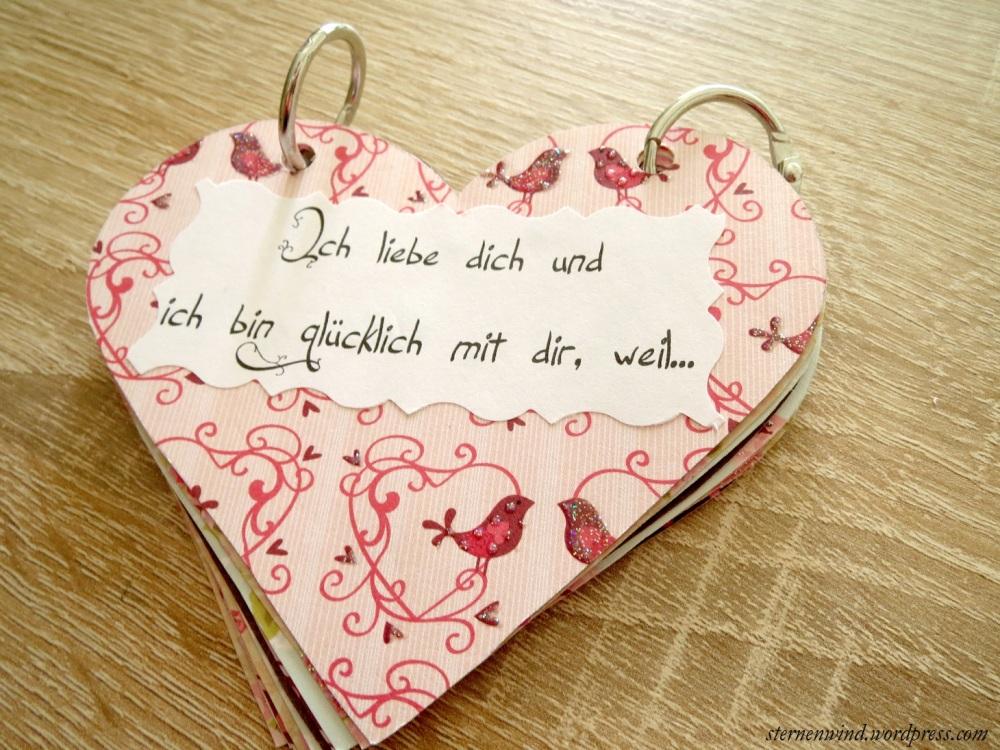 """DIY: """"Ich hab dich lieb, weil""""-Miniherzbuch (1/6)"""
