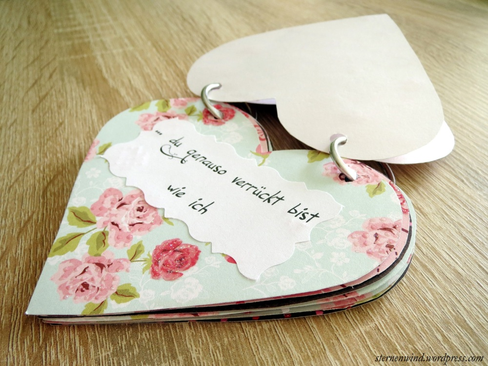 """DIY: """"Ich hab dich lieb, weil""""-Miniherzbuch (3/6)"""