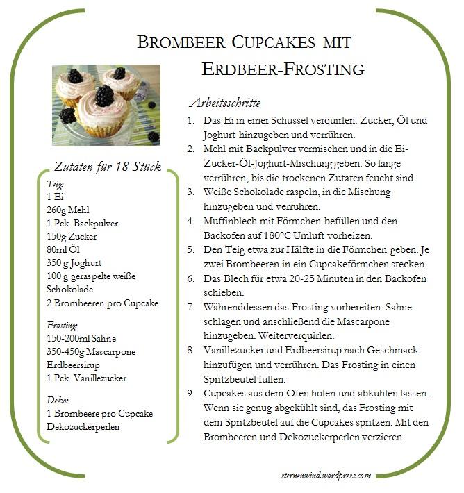Rezept für die Brombeer-Cupcakes