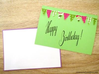 Wimpelketten-Postkarte Rückseite
