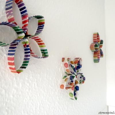 Wanddeko aus Klopapierrollen