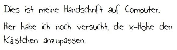Computer-Handschrift Nr. 1