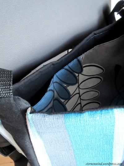blaue Tasche Innenansicht