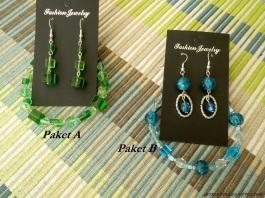 Schmuck in grün und blau