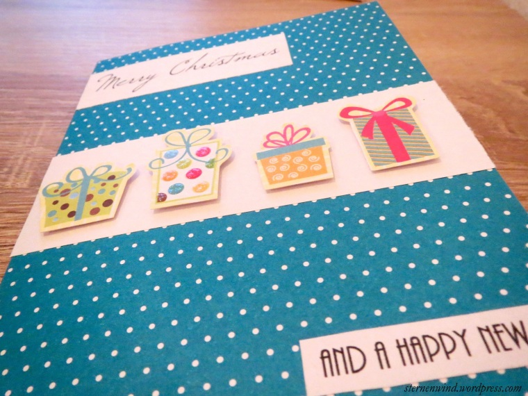 Weihnachtskarte mit Motivpapier