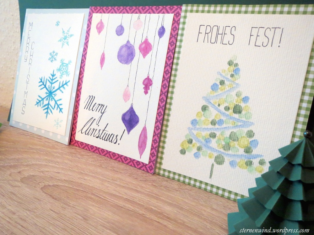 DIY: selbstgemalte Weihnachtskarten (1/6)