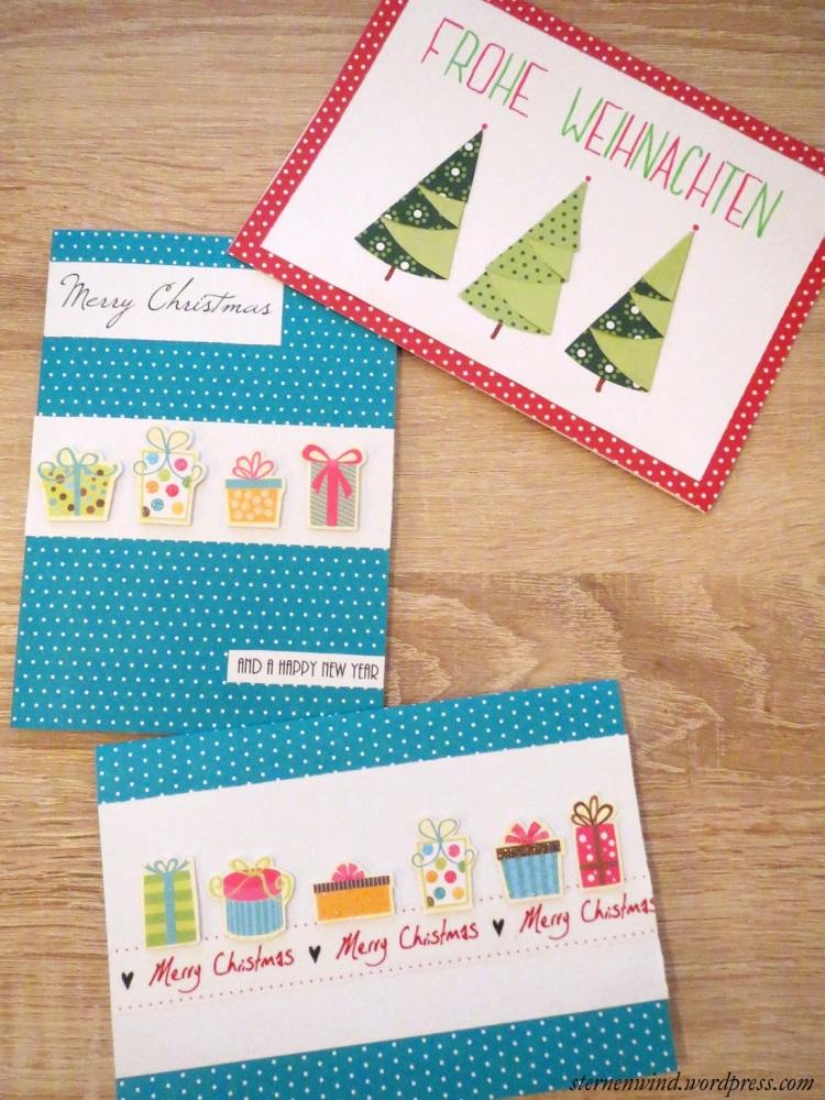 DIY: Weihnachtskarten mit Washitape und Motivpapier (4/6)