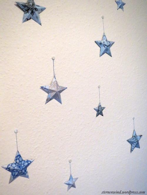 Weihnachtssterne aus Papier