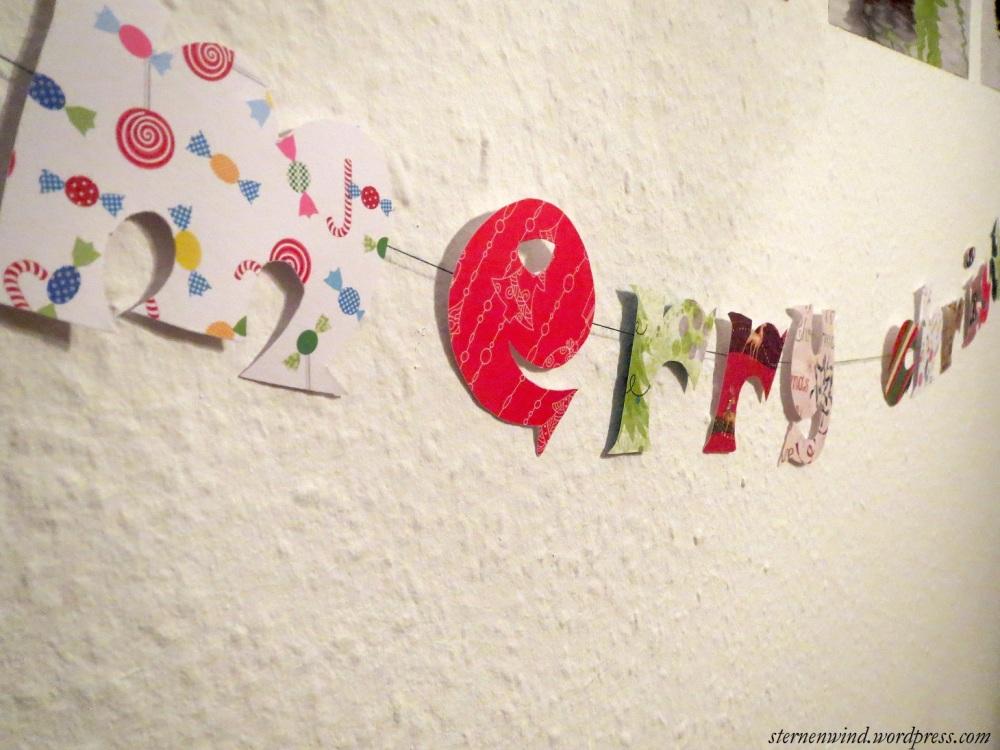 DIY: Merry Christmas-Girlande (4/6)