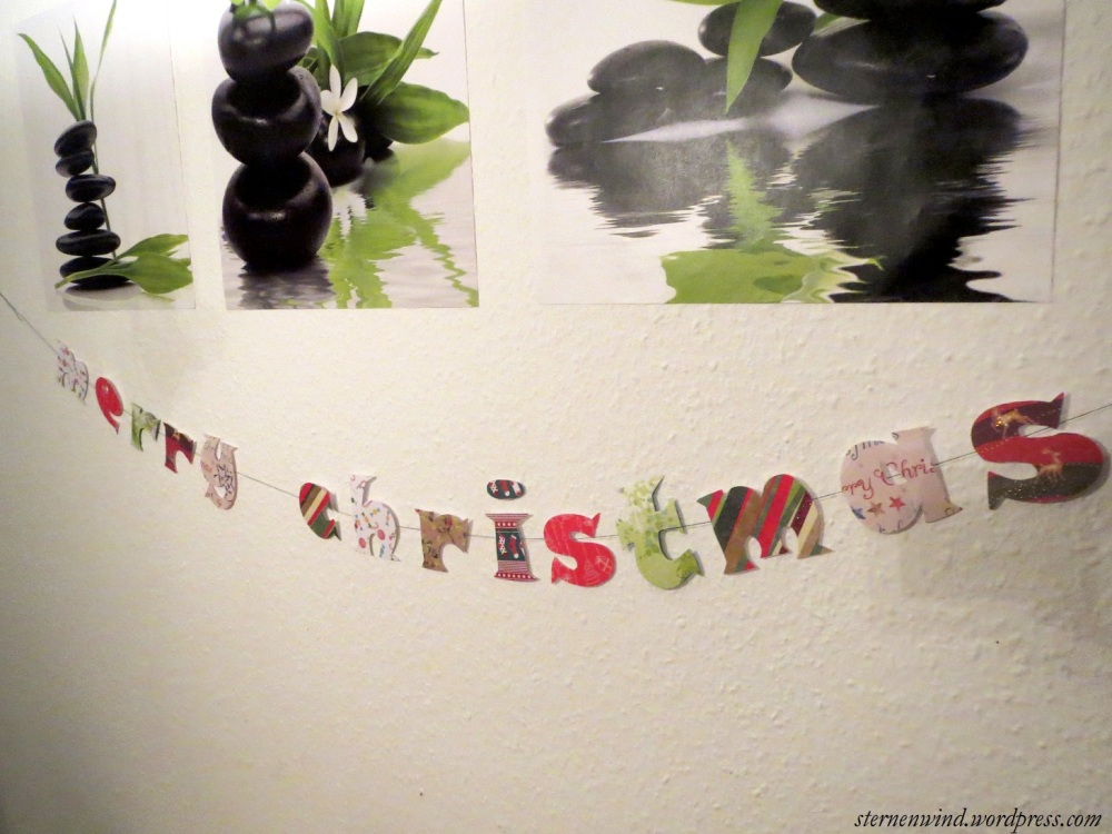 DIY: Merry Christmas-Girlande (3/6)