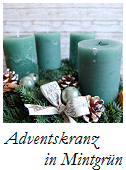 Adventskranz mintgrün