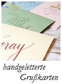 Grußkarten Handlettering