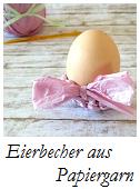 Eierbecher aus Papiergarn häkeln