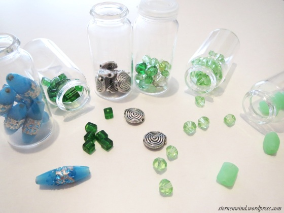 Glasschliffperlen, Glasperlen, Metallperlen