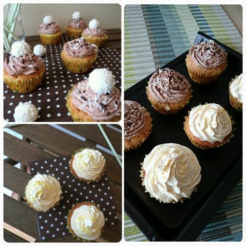 Zitronen-Cupcakes und Raffaello-Cupcakes