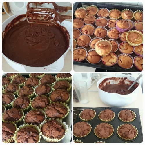 Erdbeermuffins, Schokoladenmuffins