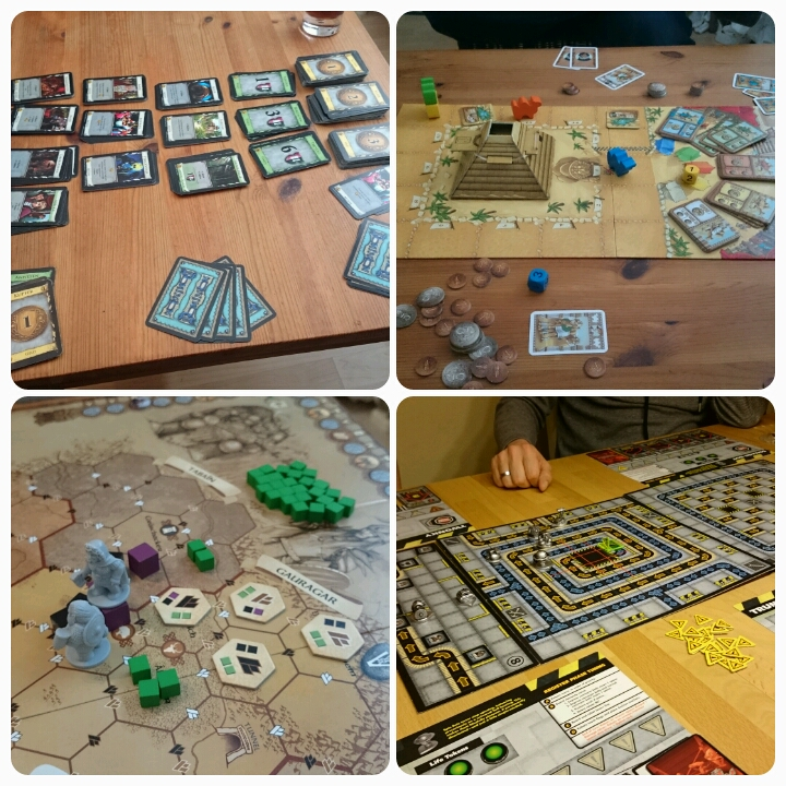 Brettspiele: Domion, Camel Up, Die Zwerge, Robo Rally