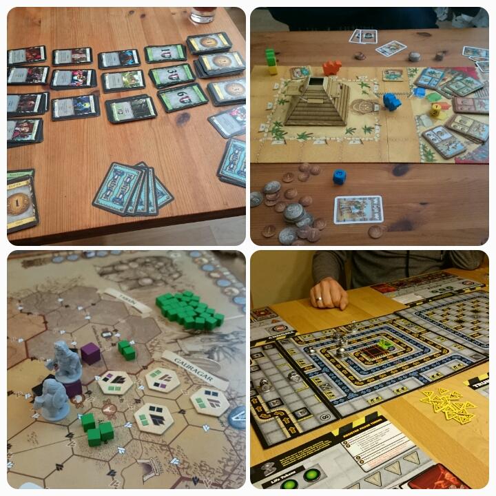 Brettspiele: Domion, Camel Up, Die Zwerge, Robo Rally