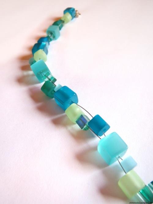 Armband mit Cateye Perlen