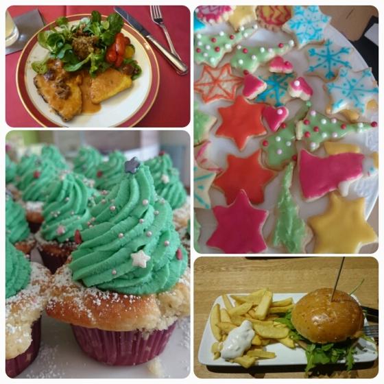 Weihnachtsessen, Plätzchen, Cupcakes, Burger