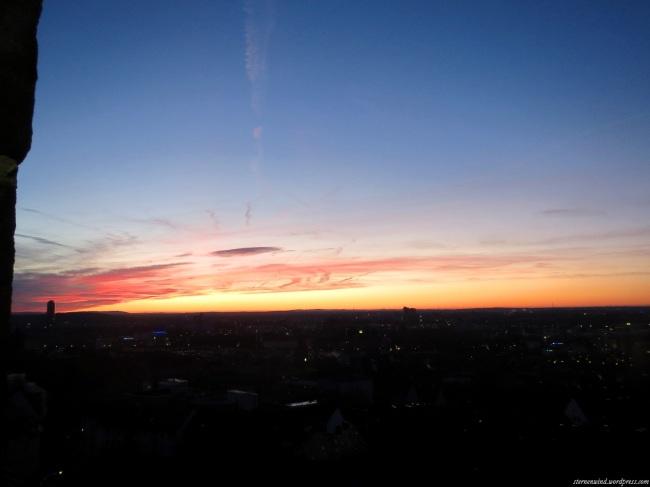 Sonnenaufgang über Nürnberg
