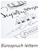 Lettering: Spruch fürs Büro lettern