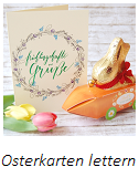 Osterkarten lettern, Lettering