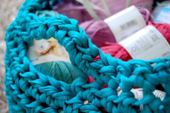 Aufbewahrungskorb für Wolle häkeln