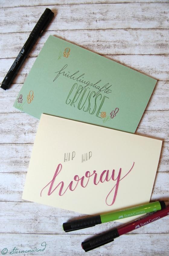 Handlettering Grusskarte