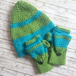 Mütze und Handschuhe häkeln