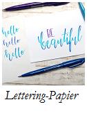 Lettering Papier Grundlagen
