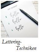 Lettering Technik Grundlagen