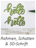 Lettering: Rahmen, Schatten, 3D-Schrift