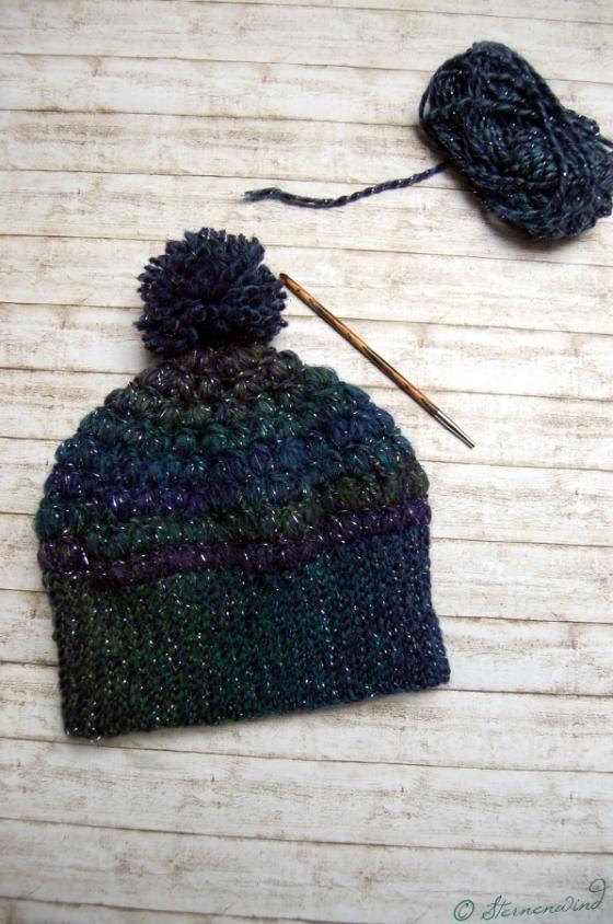 Mütze Büschelmaschen Puff Stitch häkeln