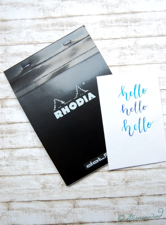 Handlettering Rhodia Dot Pad Block