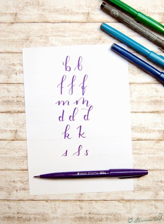Handlettering Schriftarten
