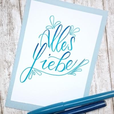 Geburtstag Karte Lettering