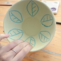 Müslischüssel Keramik bemalen Mal-Werk Mainz
