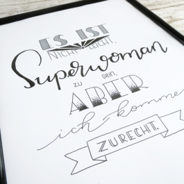 Spruch Lettering Anleitung