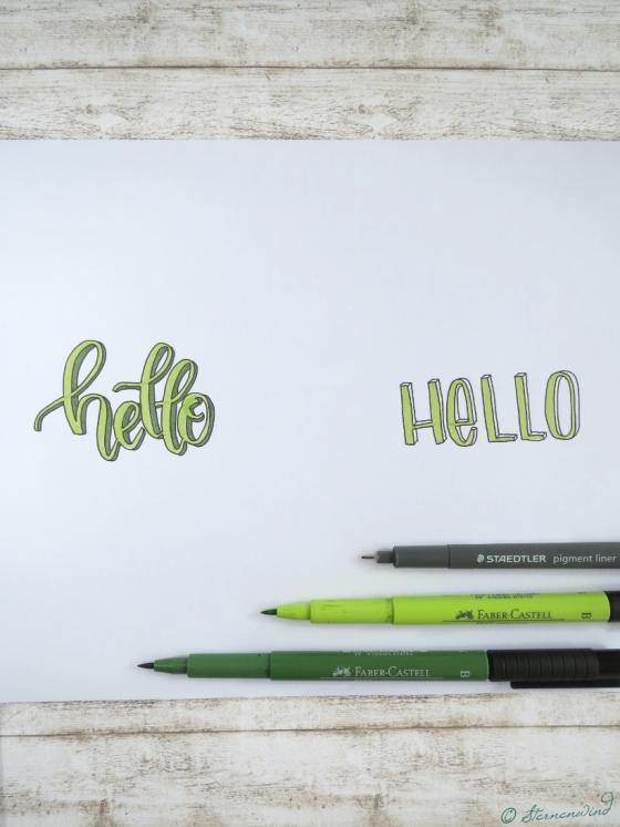 3D-Schrift Lettern Anleitung, Lettering