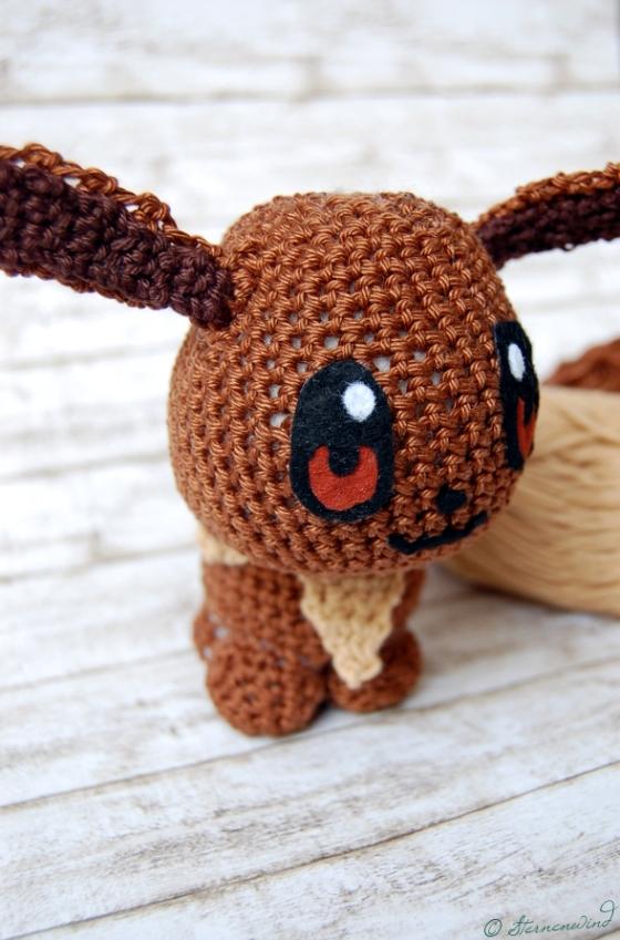 Amigurumi Pokemon Evoli häkeln Anleitung, kostenlos, Sternenwind Blog