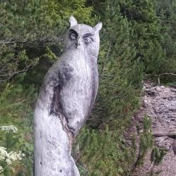 Eule aus Holz Südtirol