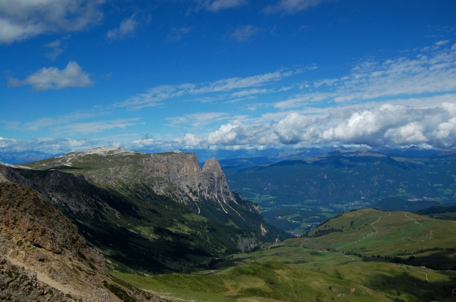 Rosszahnscharte Blick auf Schlern Südtirol