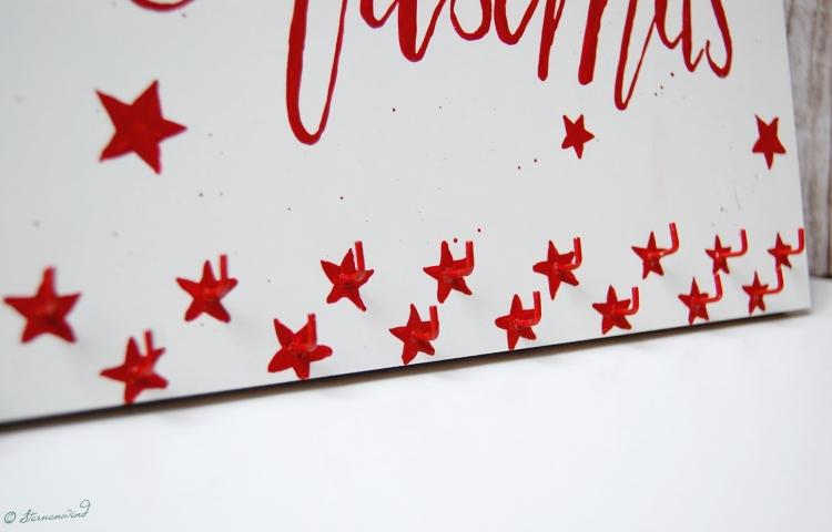 Adventskalender Aufhängung Acryl auf Holz Lettering Anleitung