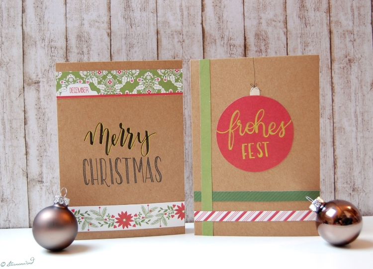 Weihnachtskarte Lettering Inspiration Handlettering