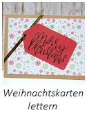Anleitung Weihnachtskarten lettern Teil 1