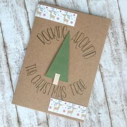 Weihnachtskarte im Kreis lettern Lettering Anleitung